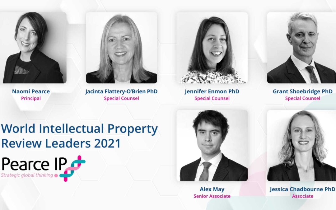 Pearce IP listed in World Intellectual Property Review