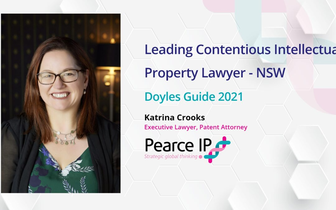 Katrina Crooks re-listed in Doyles Guide as Leading IP Lawyer