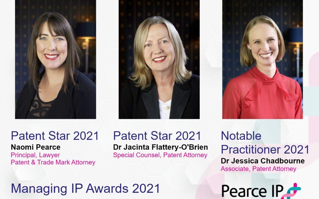 Third Pearce IP Patent Expert Honoured by MIP Patent Star 2021 Award