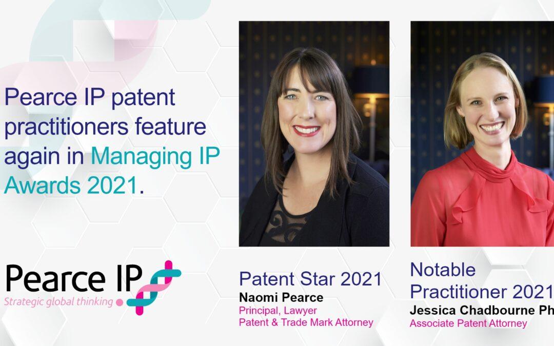 Pearce IP practitioners honoured by MIP as IP Stars 2021