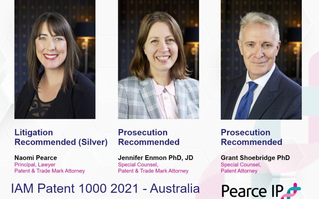 Pearce IP celebrates milestone with IAM Patent Ranking