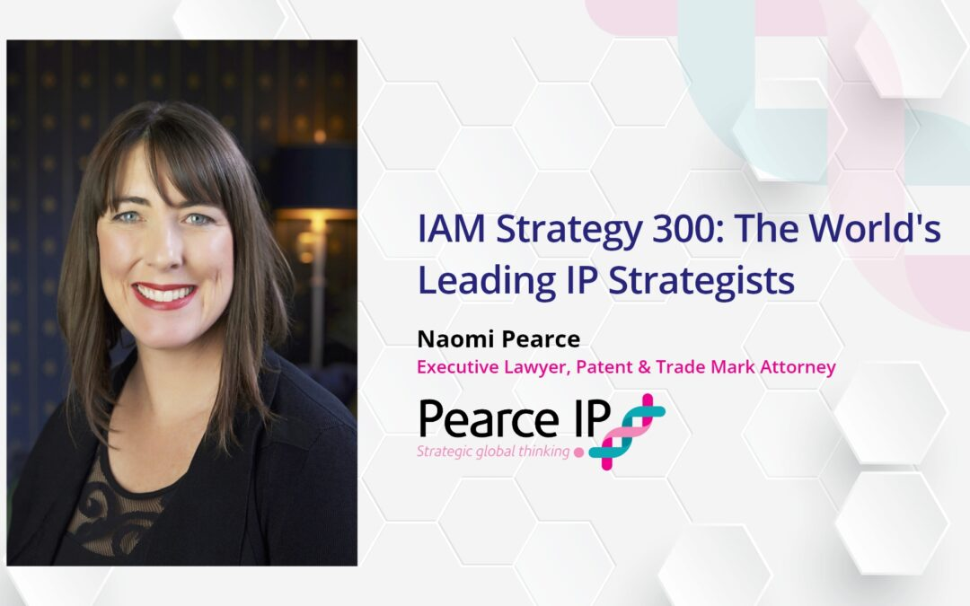 Naomi Pearce recognised as a World Leading Patent Strategist by IAM